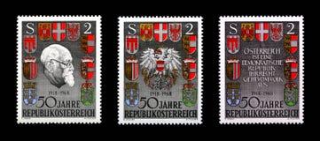 Cinquanta anni di Repubblica Austria Fotografia Stock Libera da Diritti