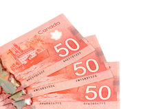Cinquanta dollari canadesi Immagine Stock Libera da Diritti