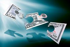 Cinquanta dollari di puzzle Immagine Stock