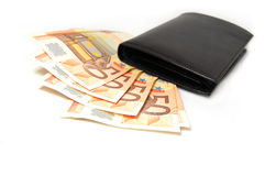 Cinquanta euro banconote Fotografie Stock