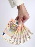 Cinquanta euro note immagine stock