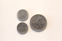 Cinquanta lirów włocha moneta Obraz Stock