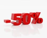 Cinquanta per cento Immagini Stock Libere da Diritti