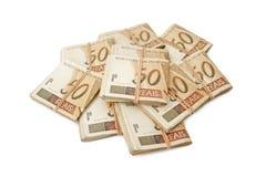 Cinquanta reais - soldi brasiliani Fotografie Stock Libere da Diritti