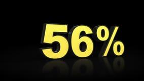 Cinquantasei rappresentazioni di per cento 3D di 56% Fotografie Stock