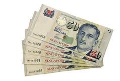 Cinquante dollars de Singapour Photo libre de droits