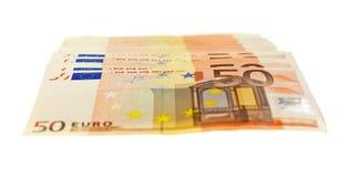 Cinquante euro notes Image stock