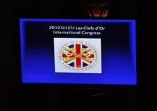 cinquante-neuvième Le congrès d'International de d'Or de Clefs de les d'UICH Image stock