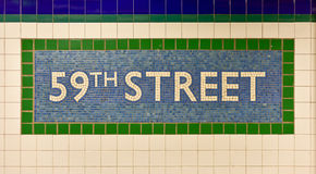 cinquante-neuvième rue Columbus Circle Station, New York photo stock