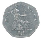 Cinquante penny Photographie stock libre de droits