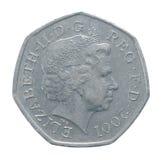 Cinquante penny Photo stock