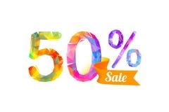 50 cinquante pour cent de vente Images stock