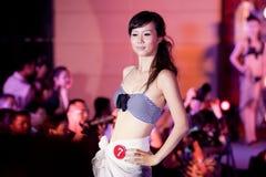 Cinquante-premier concours de Mlle International Jiangxi de vêtements de bain-Le Photographie stock