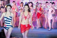 Cinquante-premier concours de Mlle International Jiangxi de vêtements de bain-Le Image stock