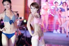 Cinquante-premier concours de Mlle International Jiangxi de vêtements de bain-Le Images stock