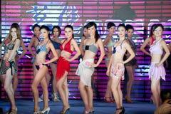 Cinquante-premier concours de Mlle International Jiangxi de vêtements de bain-Le Photos libres de droits