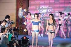 Cinquante-premier concours de Mlle International Jiangxi de vêtements de bain-Le Images libres de droits