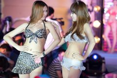 Cinquante-premier concours de Mlle International Jiangxi de vêtements de bain-Le Photographie stock libre de droits