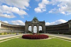 Cinquantenaire båge, Bryssel Arkivbild