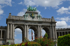 Cinquantenaire in Brussels. Arch in Jubelpark (Cinquantenaire) in brussels Royalty Free Stock Photos