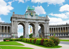 Cinquantennaire Park in Brussels Stock Photo