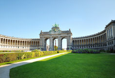 Cinquantennaire Park in Brussels Royalty Free Stock Image