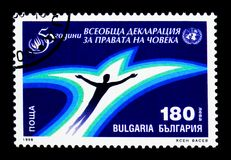 cinquantesimo anniversario della dichiarazione dei diritti umani, Anni di Univerasal Fotografia Stock