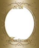 cinquantesimo Blocco per grafici di anniversario di cerimonia nuziale Immagine Stock