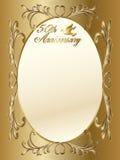 cinquantesimo bordo di anniversario di cerimonia nuziale royalty illustrazione gratis
