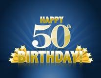 Cinquantesimo compleanno felice Immagini Stock Libere da Diritti