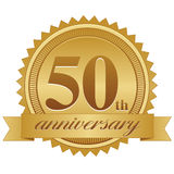 cinquantesimo Guarnizione di anniversario illustrazione di stock