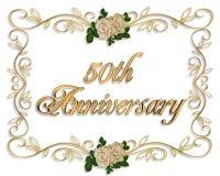 cinquantesimo Invito di anniversario illustrazione di stock