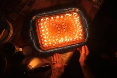 cinquantesimo torta di compleanno Fotografie Stock Libere da Diritti