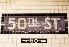 cinquantesimo via Fotografie Stock