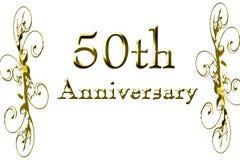 cinquantième anniversaire illustration de vecteur