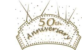 cinquantième anniversaire illustration stock