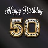 cinquantième anniversaire de joyeux anniversaire Image libre de droits