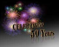 cinquantième Célébration d'anniversaire   Images libres de droits