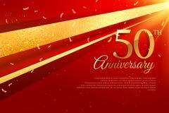 cinquantième calibre de carte de célébration d'anniversaire illustration libre de droits