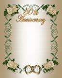 cinquantième Invitation d'anniversaire de mariage illustration de vecteur