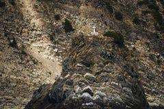 Cinque土地或五土地的海岸在利古里亚意大利 免版税库存照片