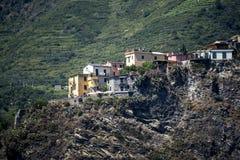 Cinque土地或五土地的海岸在利古里亚意大利 库存照片