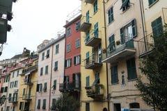 cinque意大利riomaggiore terre 库存图片