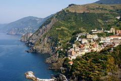 cinque Ιταλία riomaggiore terre Στοκ εικόνες με δικαίωμα ελεύθερης χρήσης