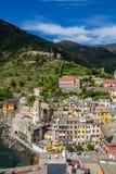 cinque το διάσημο Λα της Ιταλίας κοντά στο spezia θάλασσας θέσεων terre τουριστικό ποικίλλει το vernazza Στοκ Φωτογραφίες