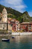 cinque το διάσημο Λα της Ιταλίας κοντά στο spezia θάλασσας θέσεων terre τουριστικό ποικίλλει το vernazza Στοκ φωτογραφίες με δικαίωμα ελεύθερης χρήσης