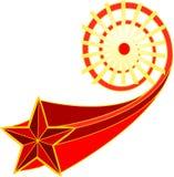 -cinque-aguzzo-stella-mosca-da--Sun Immagine Stock