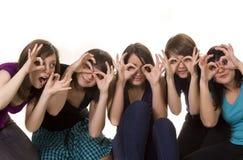 Cinque amici immagini stock