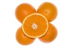 Cinque aranci Fotografia Stock Libera da Diritti