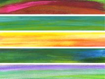 Cinque bandiere Fotografie Stock